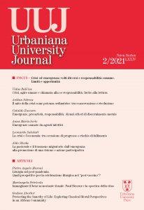 Copertina di 'Urbaniana University Journal. LXXIV/2 2021: Focus - Crisi ed emergenza: volti diversi e responsabilità comune. Limiti e opportunità'