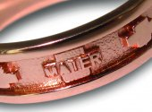 Immagine di 'Fedina rosario argento con bagno oro rosa con crocette mm 25'