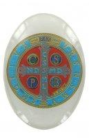 Adesivo resinato per rosario fai da te Croce di San Benedetto - misura 2