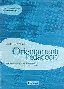 Copertina di 'Orientamenti pedagogici. Rivista internazionale di scienze dell'educazione (2007)'