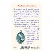 """Immagine di 'Card """"Sant'Anna"""" con preghiera e medaglia - (10 pezzi)'"""