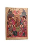 """Icona in legno policroma """"Pentecoste"""" - dimensioni 43x31 cm"""