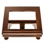 Leggio da tavolo in noce misura piccola - dimensioni 25x20 cm