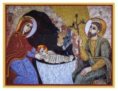 Quadro natività Padre Rupnik stampa - 5,5 x 7,5 cm (Bratislava)