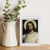 """Immagine di 'Quadretto """"Volto di Cristo"""" con passe-partout e cornice minimal - dimensioni 15x10 cm'"""