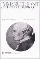Critica del giudizio. Testo tedesco a fronte - Kant Immanuel