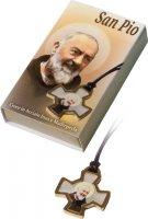 Immagine di 'Confezione con croce di San Benedetto in acciaio inox e madreperla'