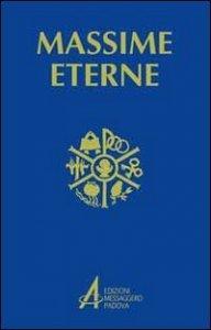 Copertina di 'Massime eterne per la preghiera e la meditazione'
