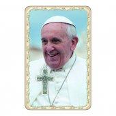 """Card dettaglio """"Papa Francesco"""" con preghiera e crocetta - (10 pezzi)"""