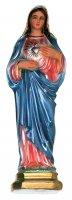 Statua Sacro Cuore di Maria in gesso madreperlato dipinta a mano - cm 50