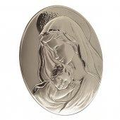 Bassorilievo in argento Madonna con bambino di  su LibreriadelSanto.it