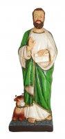 Statua di San Luca da 12 cm in confezione regalo con segnalibro in IT/EN/ES/FR