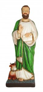 Copertina di 'Statua di San Luca da 12 cm in confezione regalo con segnalibro in IT/EN/ES/FR'