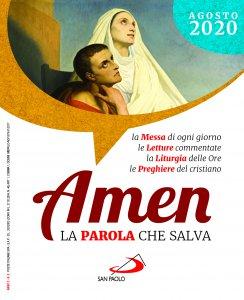 Copertina di 'Amen. La parola che salva. Agosto 2020'