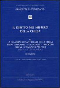 Copertina di 'Diritto nel mistero della Chiesa'