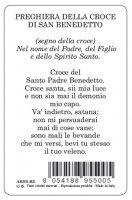 Immagine di 'Card San Benedetto della guarigione in PVC - 5,5 x 8,5 cm - italiano'