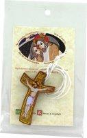 Croce Giubileo della Misericordia con cordone bianco - cm 6,5x4,2