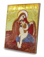 Immagine di 'Quadro Madonna delle Spighe Padre Rupnik stampa 10,8x14,6 cm - (Monza)'