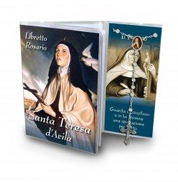 Copertina di 'Libretto con Rosario Santa Teresa d Avila - italiano'