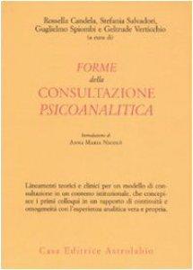 Copertina di 'Forme della consultazione psicoanalitica'