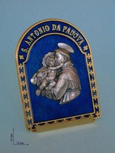 Copertina di 'Quadretto arcato Sant'Antonio da Padova con sfondo blu'