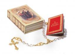 Copertina di 'Rosario degli sposi con portarosario a forma di libro'