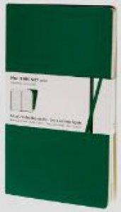 Copertina di 'Taccuini volant a righe - set 2 pezzi - verde smeraldo - XS'