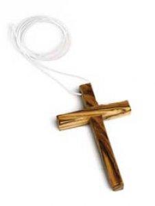 Copertina di 'Croce in legno d'ulivo con laccio - altezza 10 cm'
