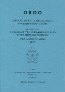Copertina di 'Ordo divini officii recitandi sacrique peragendi 2017'