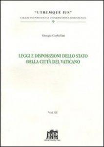 Copertina di 'Leggi e disposizioni dello stato della Città del Vaticano'