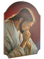 """Quadro in legno """"Cristo in meditazione"""""""