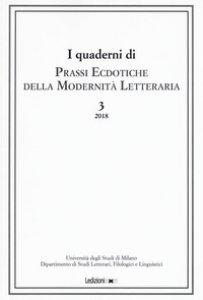 Copertina di 'Prassi ecdotiche della modernità letteraria (2018)'