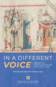 Copertina di 'In a Different Voice. Reflection on Catholic Social Thought from and for Europe.'