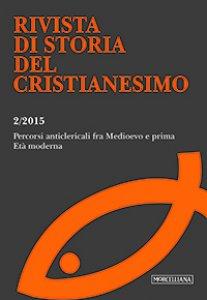Copertina di 'RSCR. Vol. 2/2015: Percorsi anticlericali fra Medioevo e prima Età moderna.'