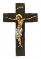 Crocifisso Cristo morente, produzione greca in legno - 21,5 x 14 cm