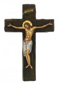 Copertina di 'Crocifisso Cristo morente, produzione greca in legno - 21,5 x 14 cm'