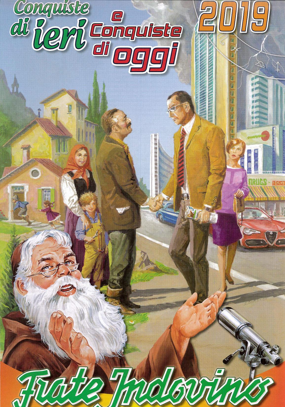 Calendario Frate Indovino 2020 In Edicola.Calendario Frate Indovino 2019 Libro Frate Indovino