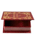 Immagine di 'Portarosario a libro rosso - dimensioni 7x5 cm'