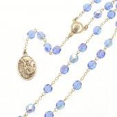 Rosario San Michele Arcangelo blu in mezzo cristallo