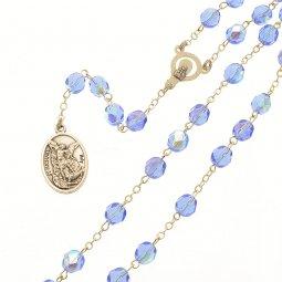 Copertina di 'Rosario San Michele Arcangelo blu in mezzo cristallo'