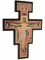 Croce di San Damiano in legno - dimensioni 28x19 cm