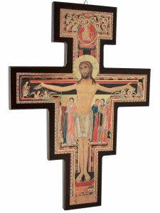 Copertina di 'Croce di San Damiano in legno - dimensioni 28x19 cm'