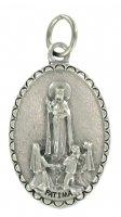 Immagine di 'Medaglia Madonna di Fatima ovale in metallo - 2,5 cm'