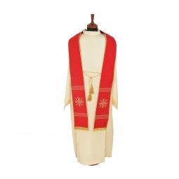 Copertina di 'Stola rossa con cordoniera e ricamo a croce greca'