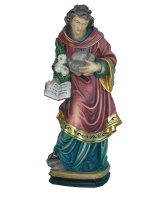"""Statua in legno dipinto a mano """"Santo Stefano"""" - altezza 20 cm"""