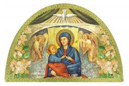 Copertina di 'Tavola Madonna del Divino Amore stampa su legno ad arco - 18 x 12 cm'