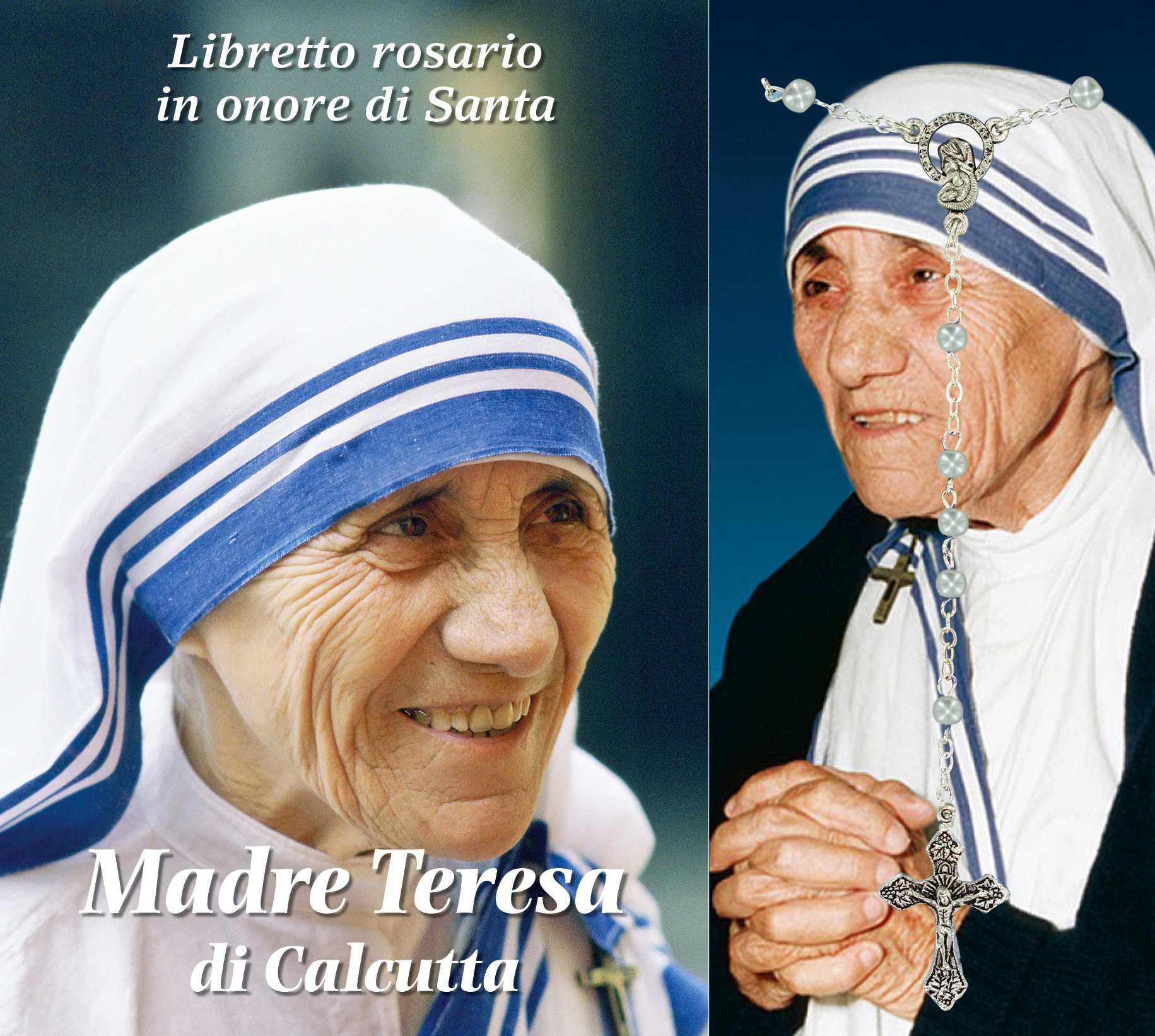 Amato Libretto Rosario Madre Teresa di Calcutta con coroncina, Rosari  DY83
