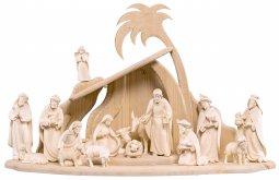 Copertina di 'Set presepe completo da 17 pezzi (capanna e statuine), Presepio Artis da 12 cm, legno naturale - Demetz Deur'