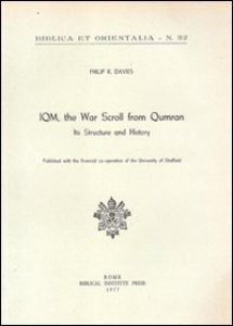 Copertina di 'IQM, the war scroll from Qumran. Its structure and history'