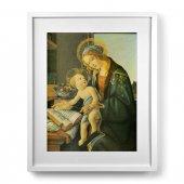 """Quadro """"Madonna del Libro"""" con passe-partout e cornice minimal - dimensioni 53x43 cm - Sandro Botticelli"""